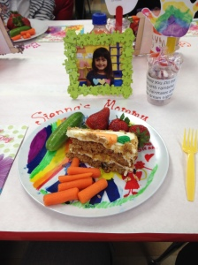 plate with cake