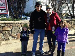 family snow