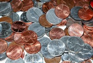 863587-Pile-of-american-coins--Stock-Photo